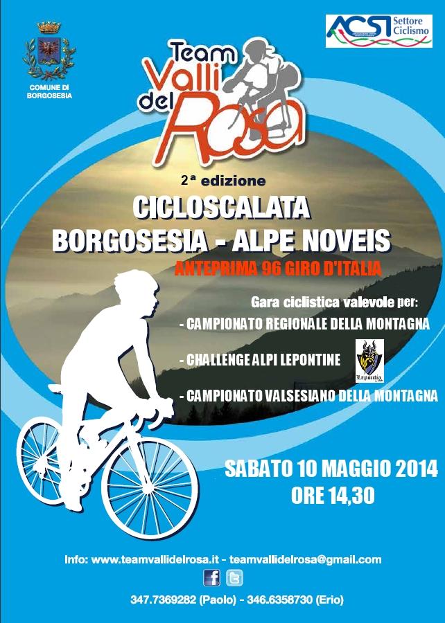 Cicloscalata Borgosesia - Noveis, 10 maggio 2014