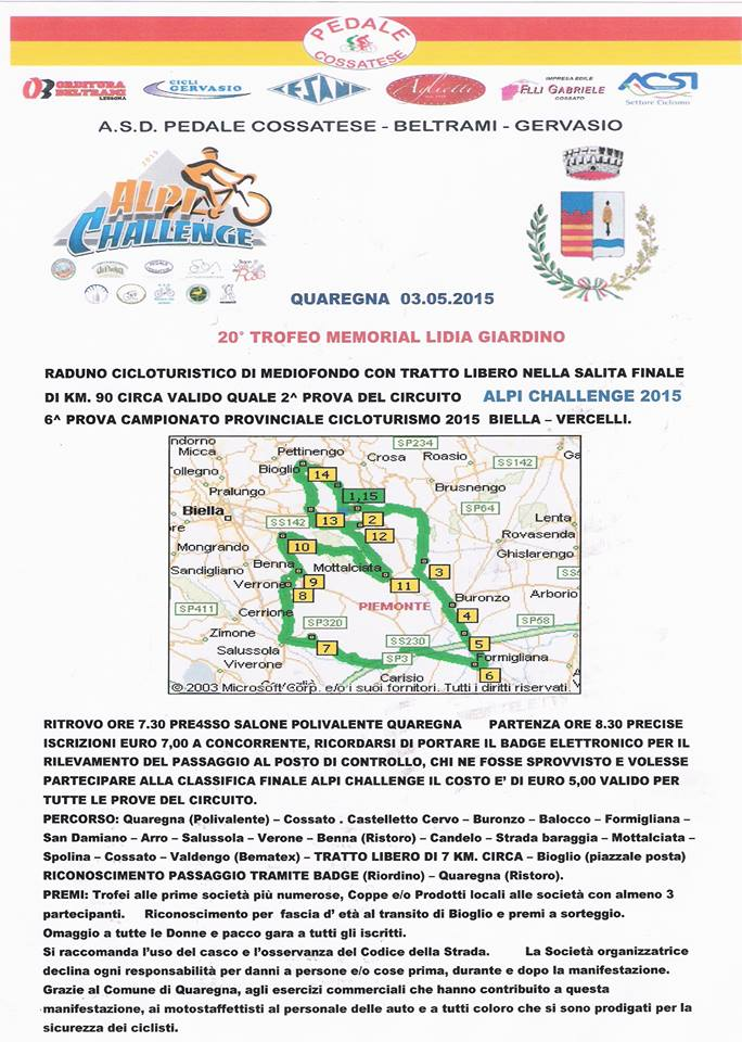 2° Prova Alpi Challenge - Quarona