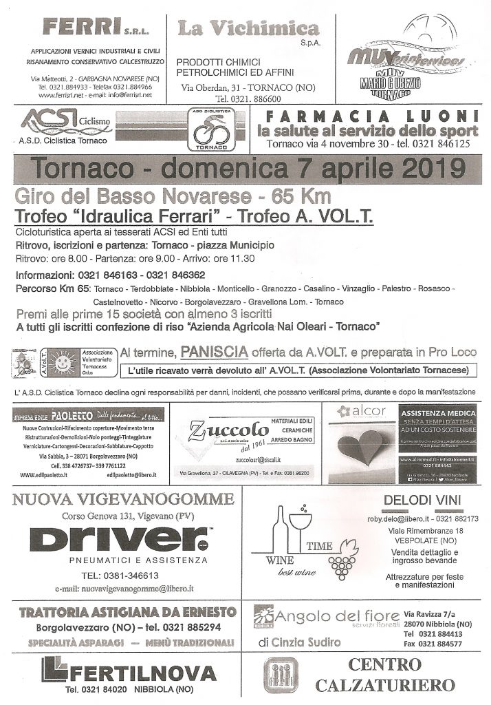 Domenica 29 Settembre_ Giro del Basso Novarese
