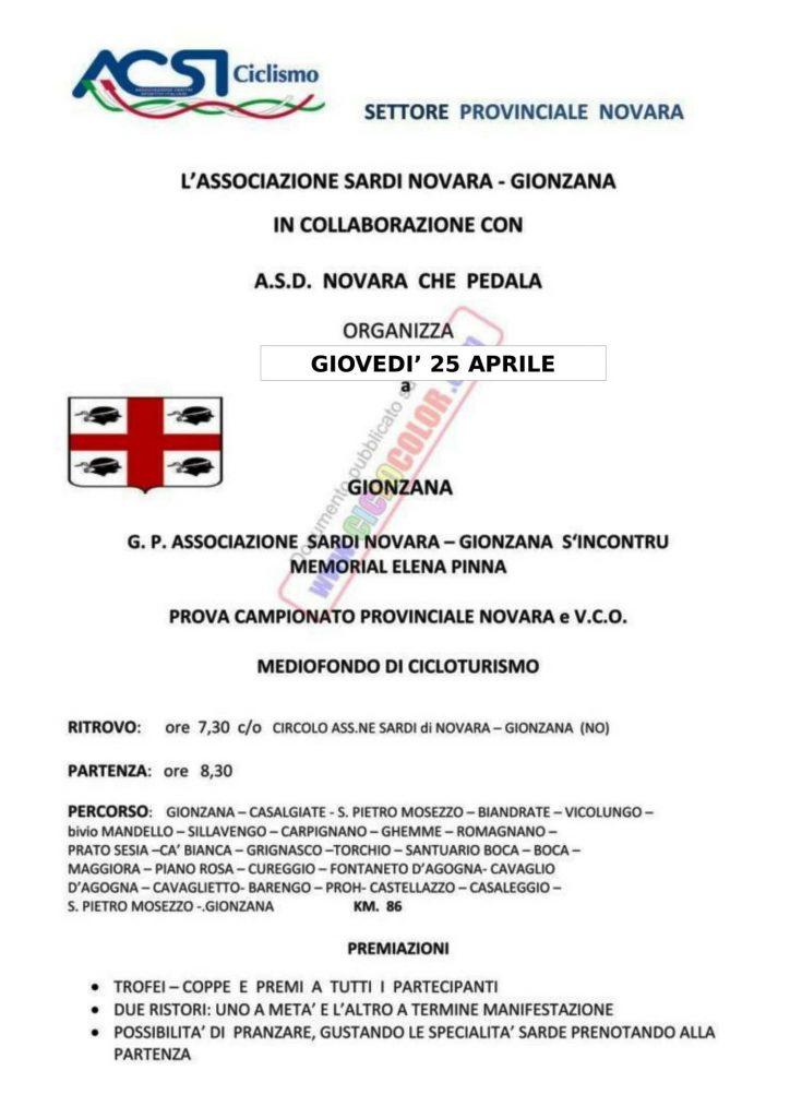 Cicloturistica Gionzana _ 25 Aprile 2019